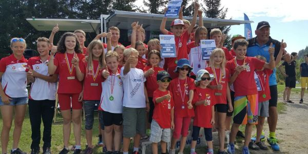 Kärntner Landesmeister Sprint-Tria: Massimo Köstl vor Christoph Lorber am Kraigersee Triathlon