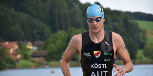 Massimo Köstl Tagessieger beim Trumer Triathlon