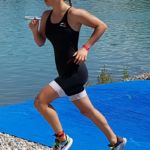 Kathi Nowak Tagesssiegerin beim Traun-Triathlon