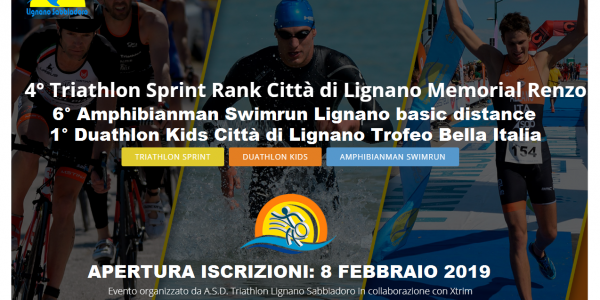 "1. Bewerb zum ""Alpe Adria Triathlon-Cup 2019"" in Lignano/ITA im April"