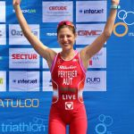 Lisa Perterer auf Rang 3 beim ITU Triathlon Word Cup in Huatulco/MEX