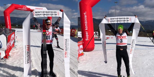 """""""Kärnten ICEMAN Wintertriathlon 2021"""" – Mairhofer und Slavinec – Lamastra und Gehbauer"""